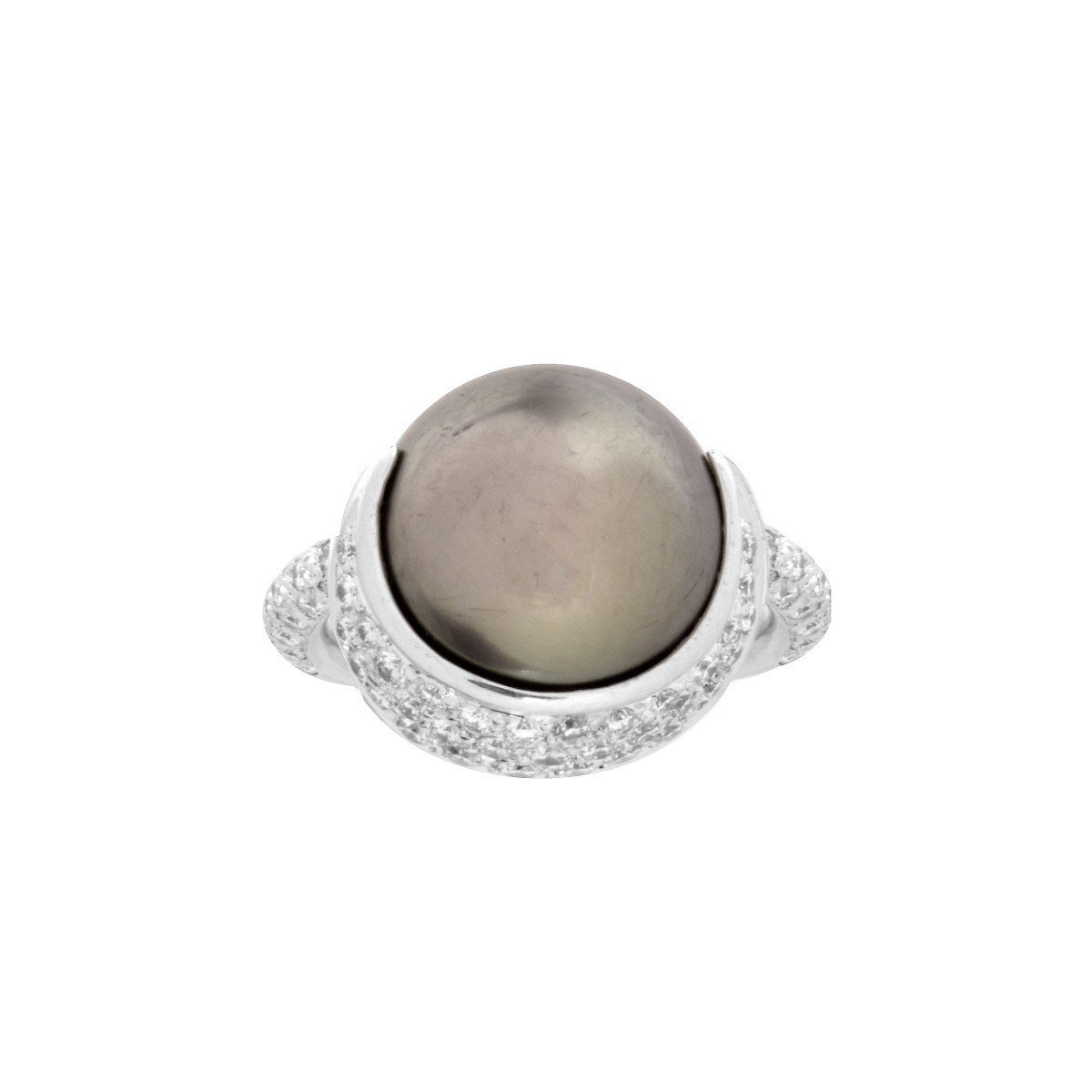 Chanel Diamond Pearl and 18K Ring