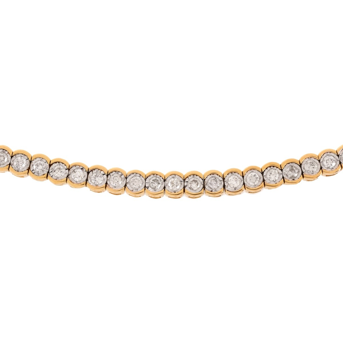 Diamond and 14K Bolo Bracelet