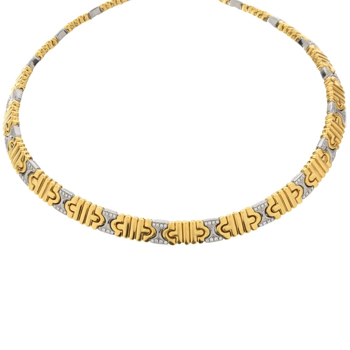 Bulgari Diamond and 18K Necklace