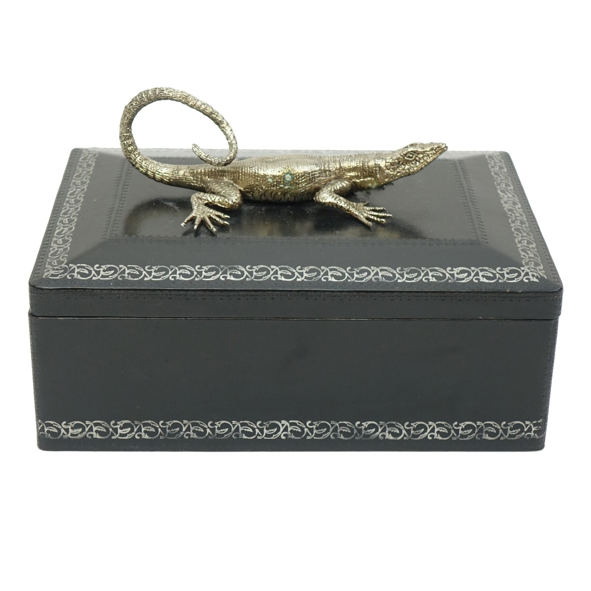Maitland Smith Leather Wrapped Covered Box