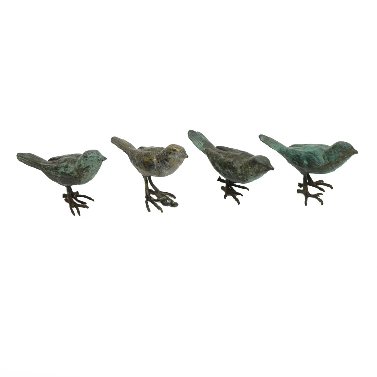 Four (4) Early 20th C. Miniature Bronze Figurines