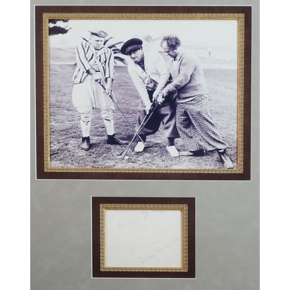 Vintage Three Stooges Hand Signed Photograph