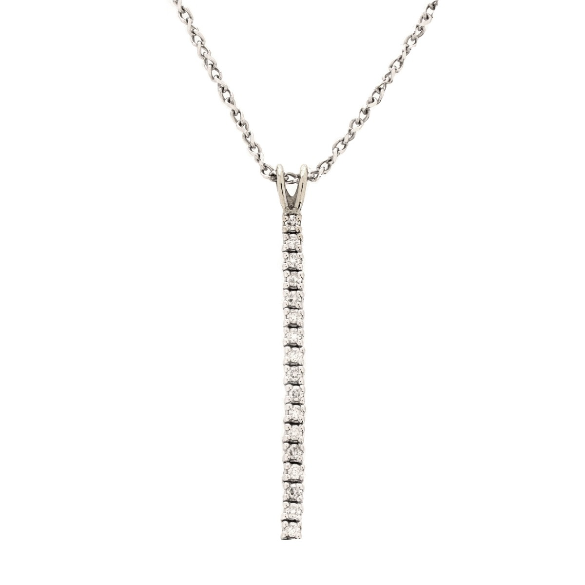 Diamond and 14K Pendant Necklace