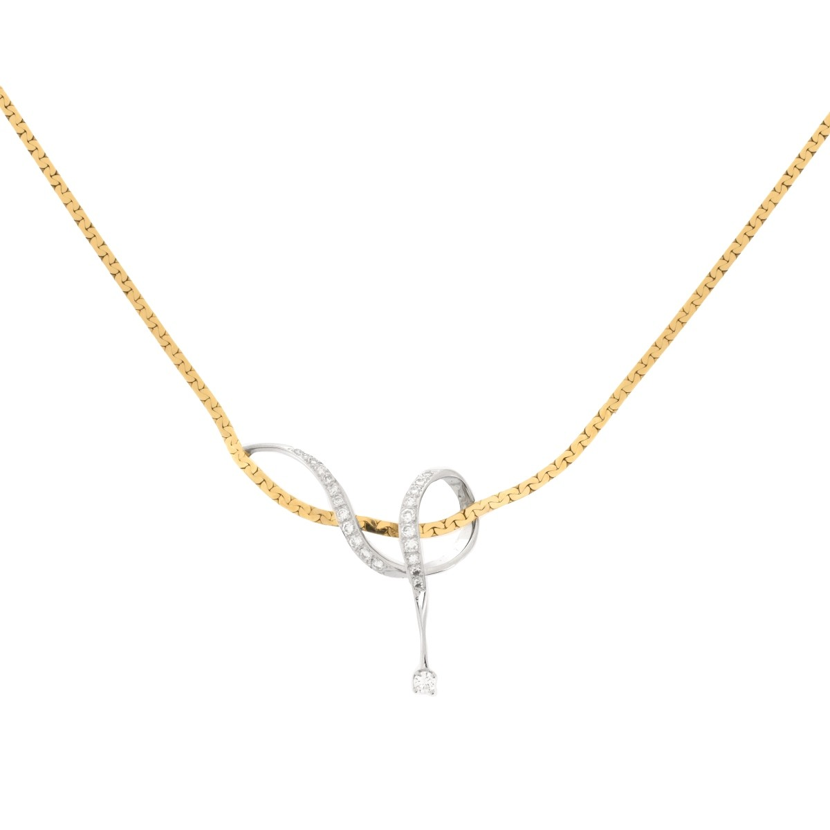 Diamond and 14K Necklace