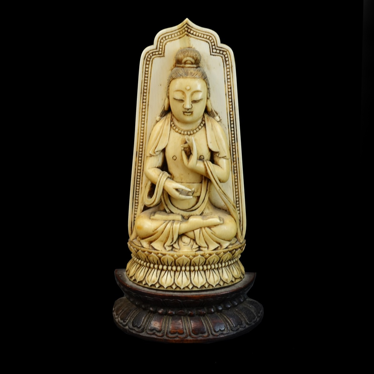 Antique Chinese Carved Buddha Figure