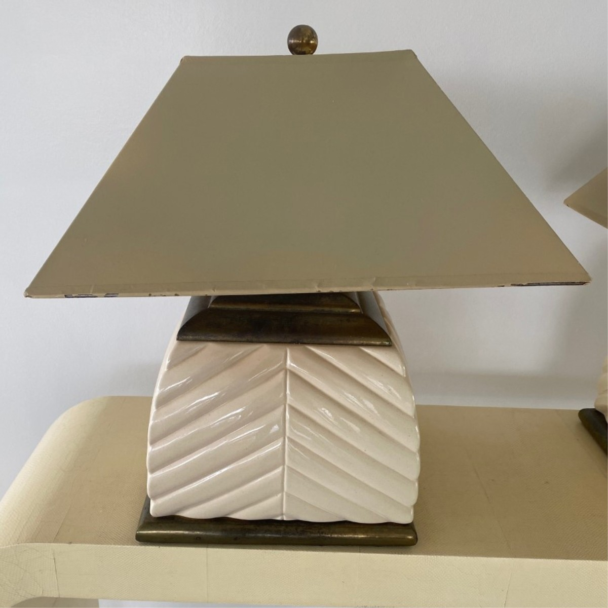 Pair of Tommaso Barbi Style Modern Lamps