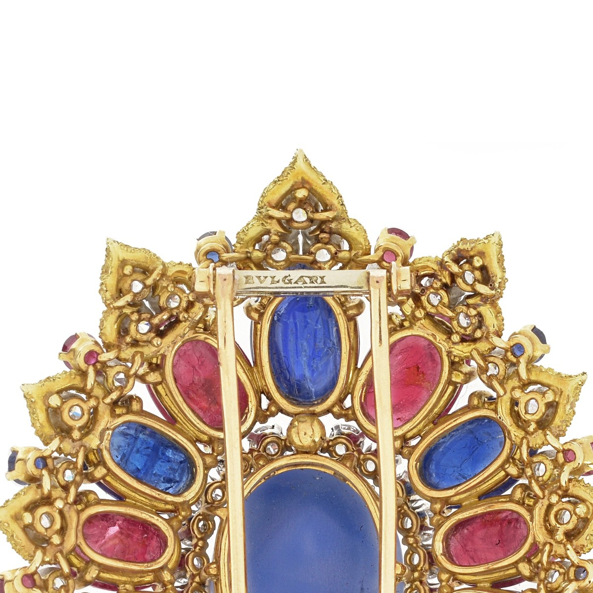 Important Bulgari Gemstone Brooch