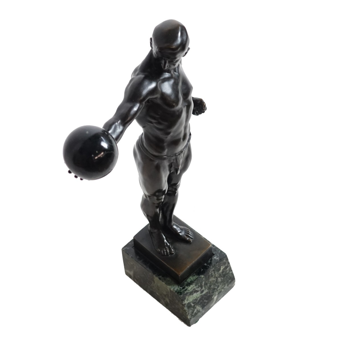 S. Bauer Bronze Sculpture on Marble Base