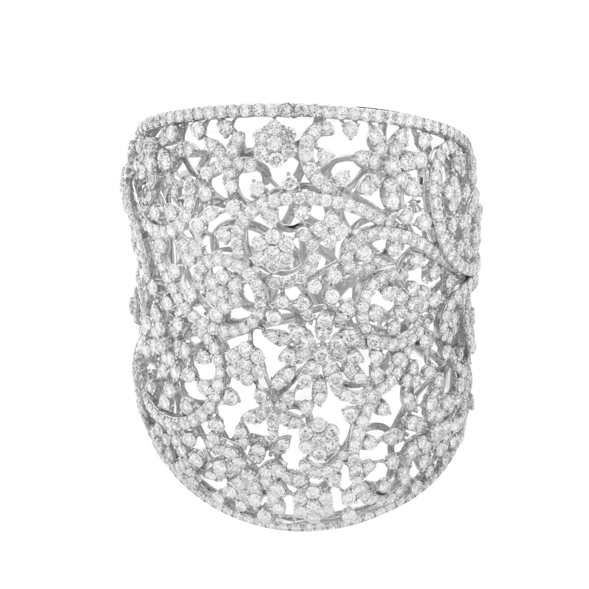 Diamond and 18K Cuff Bangle