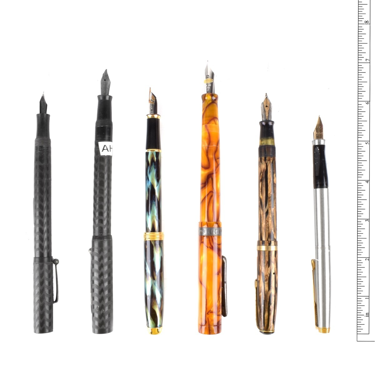 Six Fountain Pens
