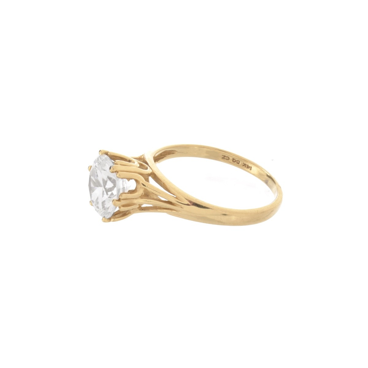 CZ and 14K Ring