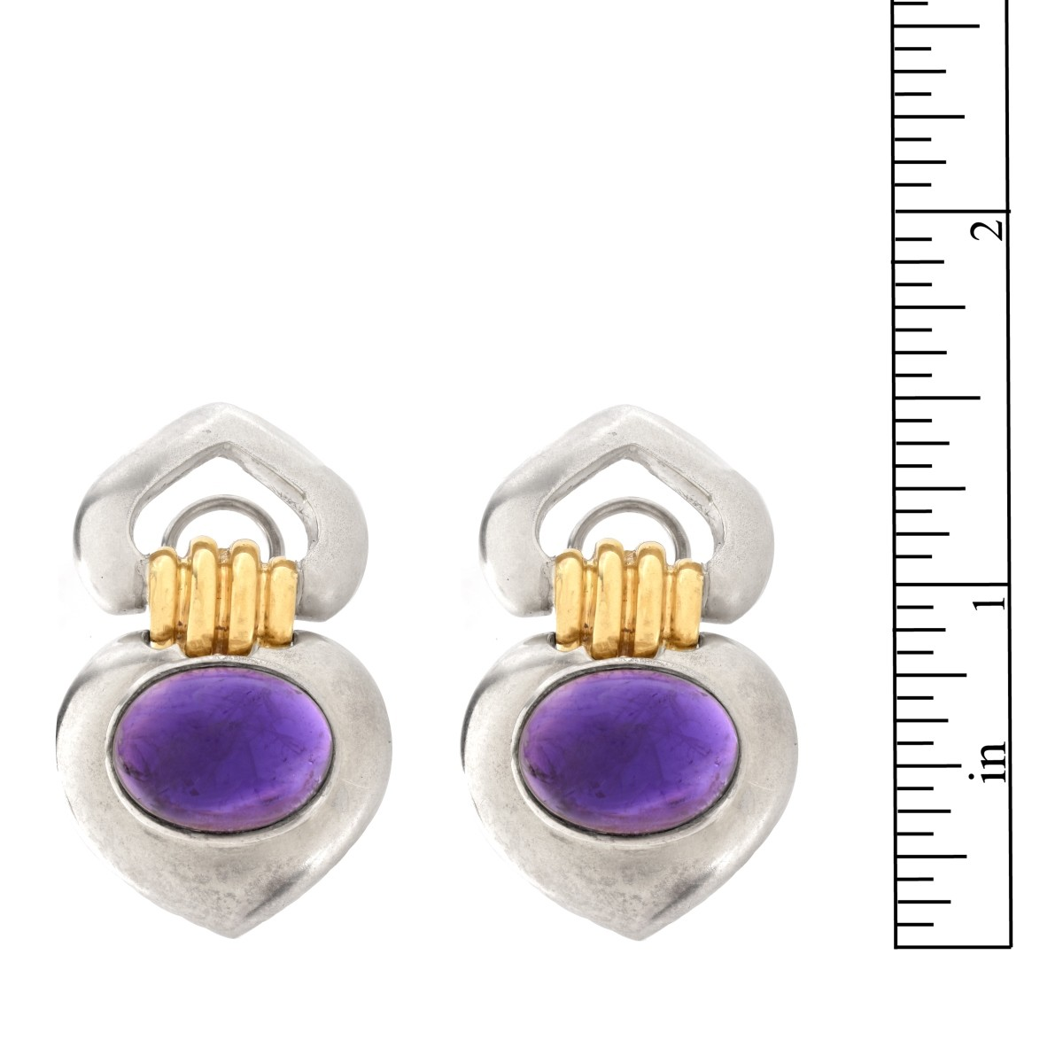 Amethyst, 14K and Sterling Earrings