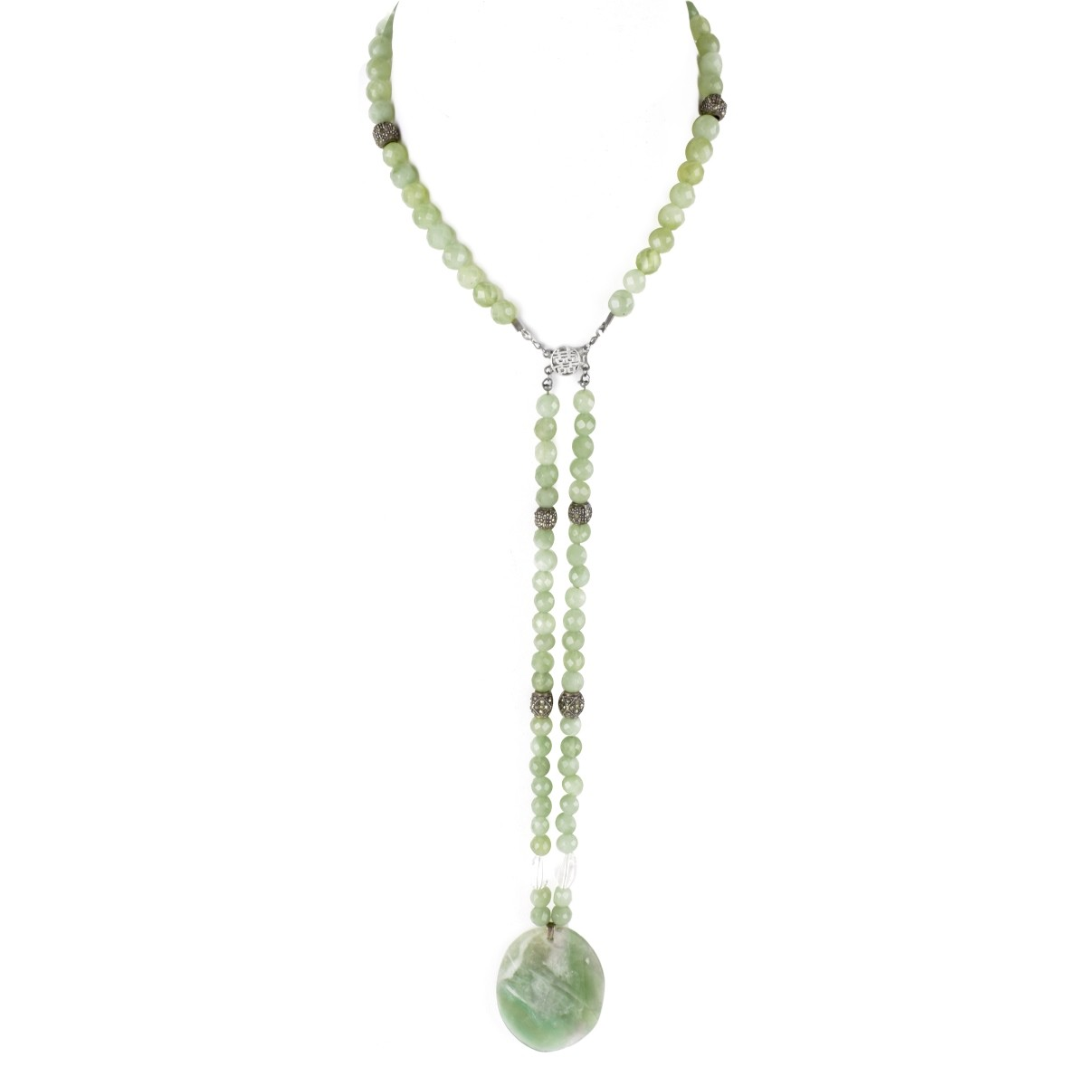 Jade and Sterling Necklace