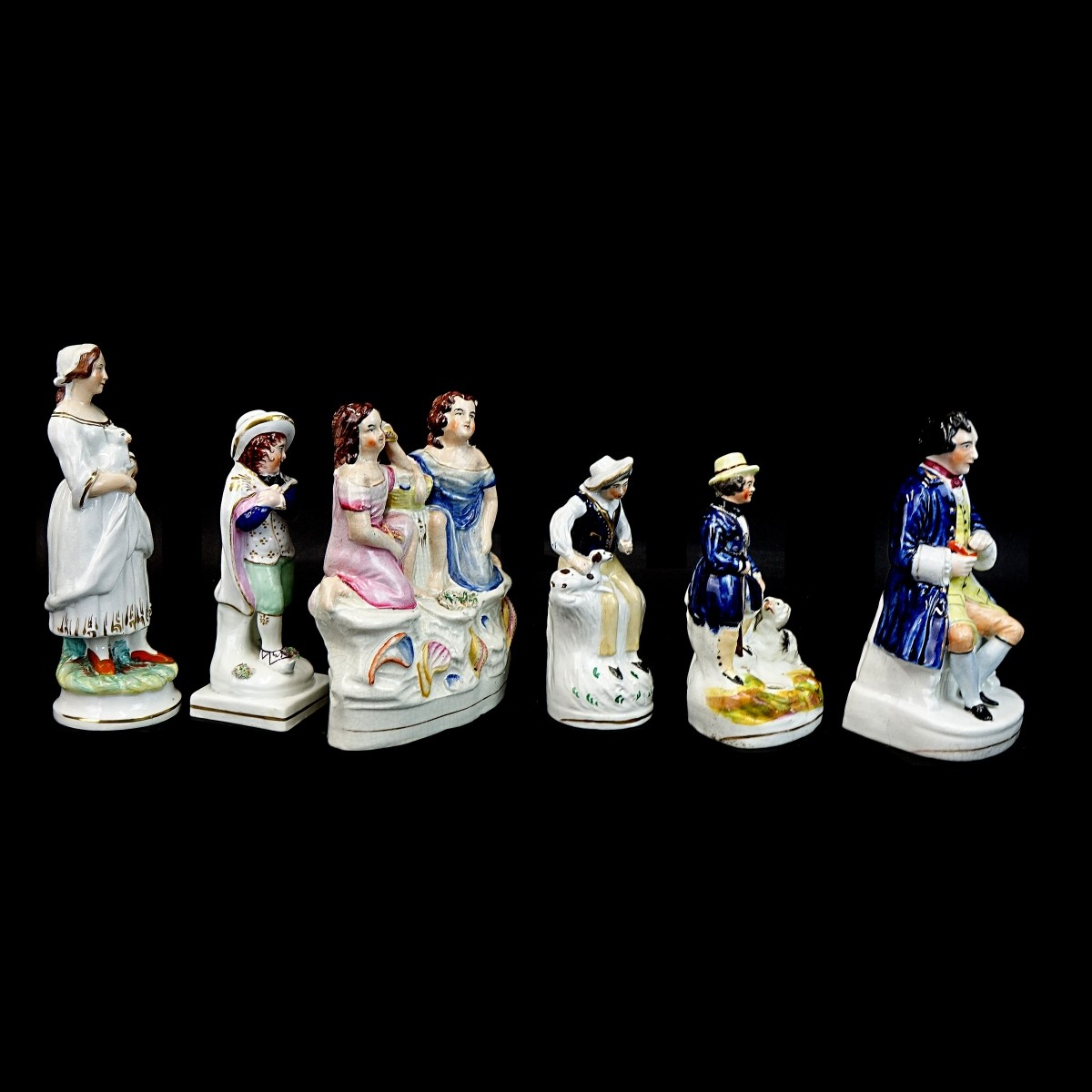 Six (6) Staffordshire Figurines