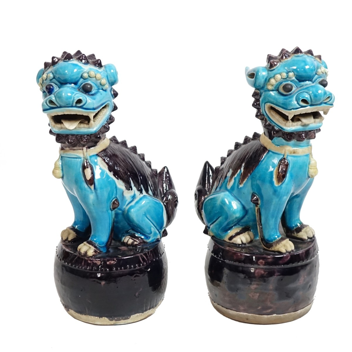 Pair of Chinese Foo Dog Figures