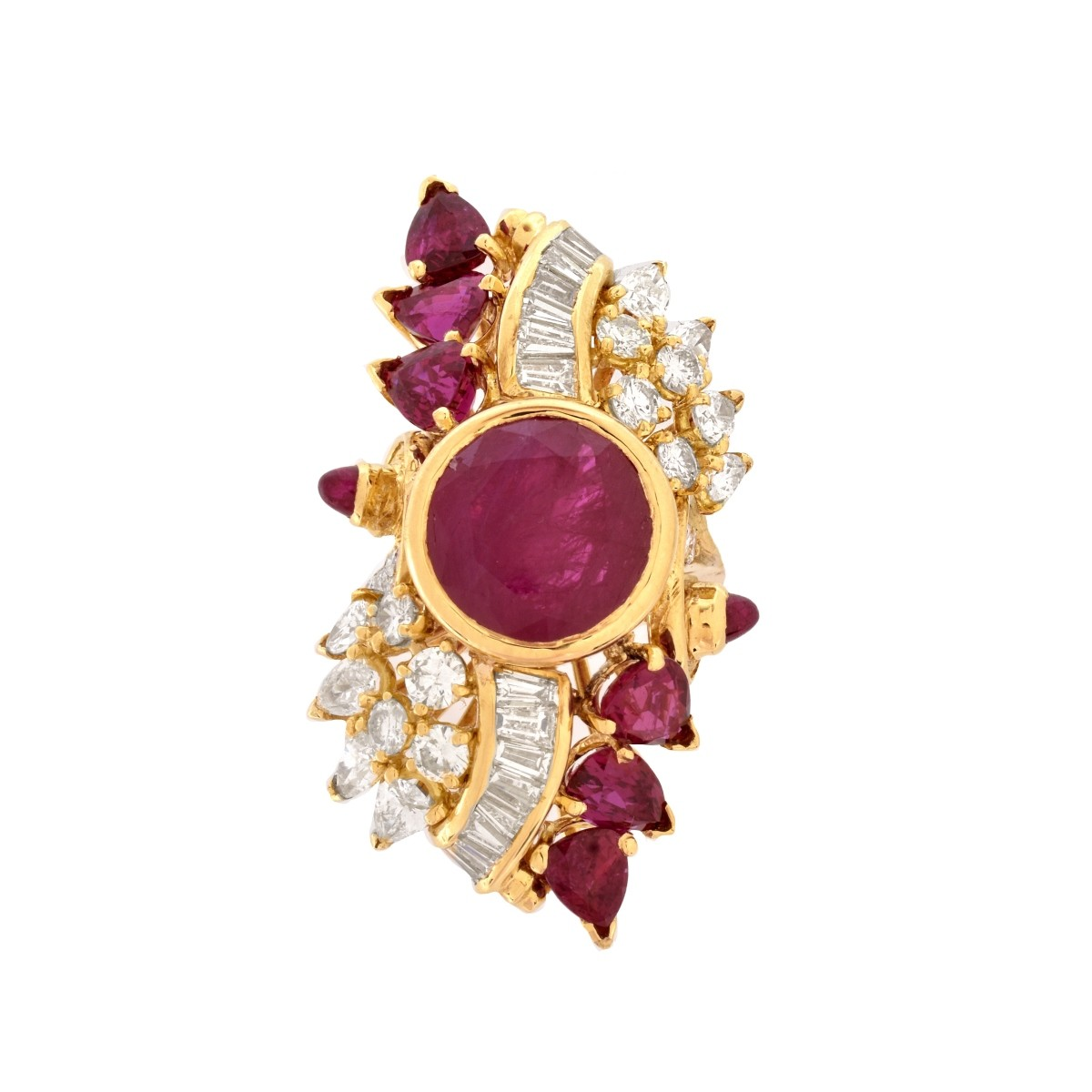 Ruby, Diamond and 18K Ring