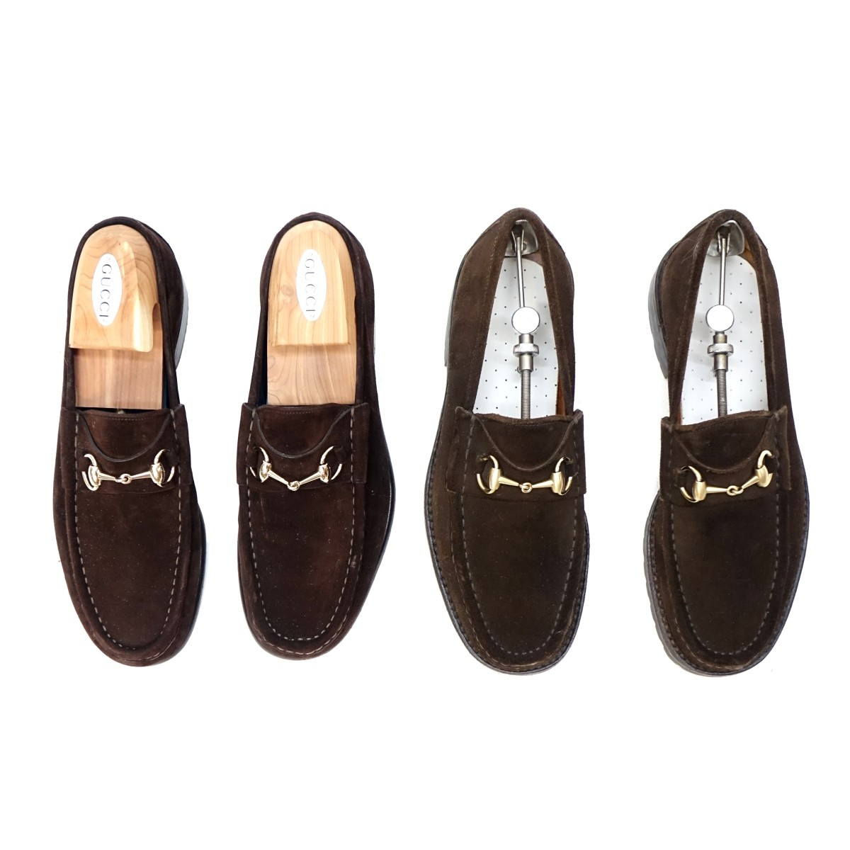 Pair of Gucci Loafers with Stretchers