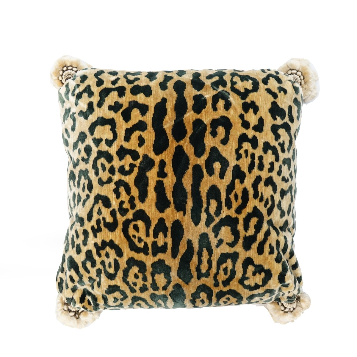 Three Leopard Velvet Pillows
