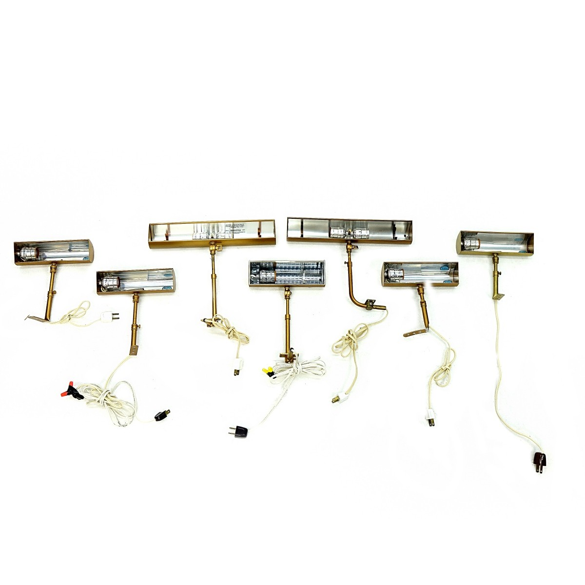 Seven Gold Tone Picture Lights