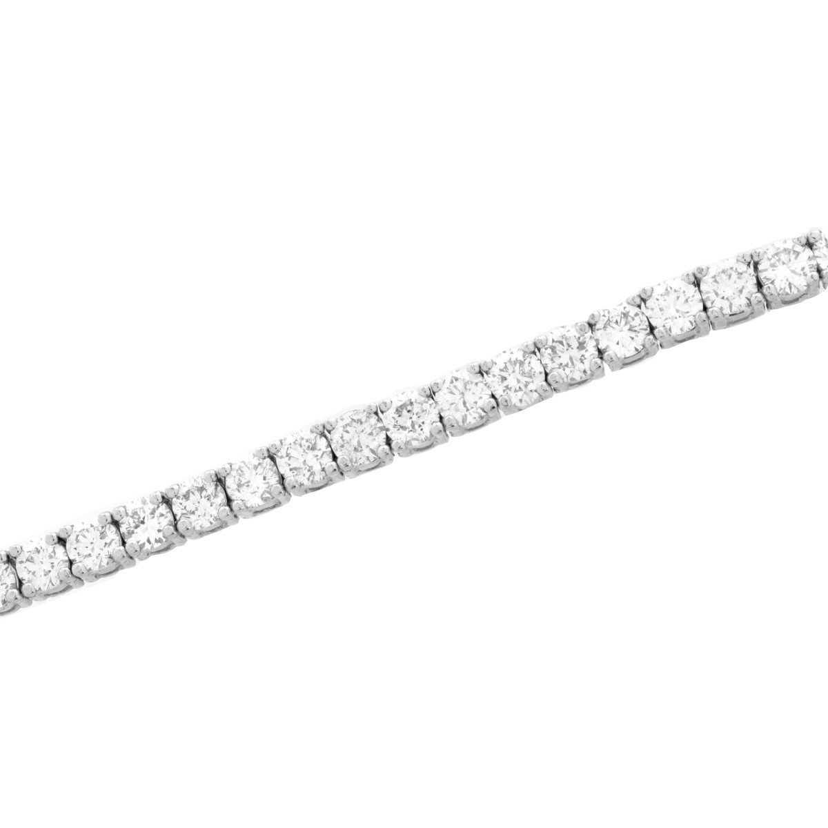 Diamond and Platinum Tennis Bracelet