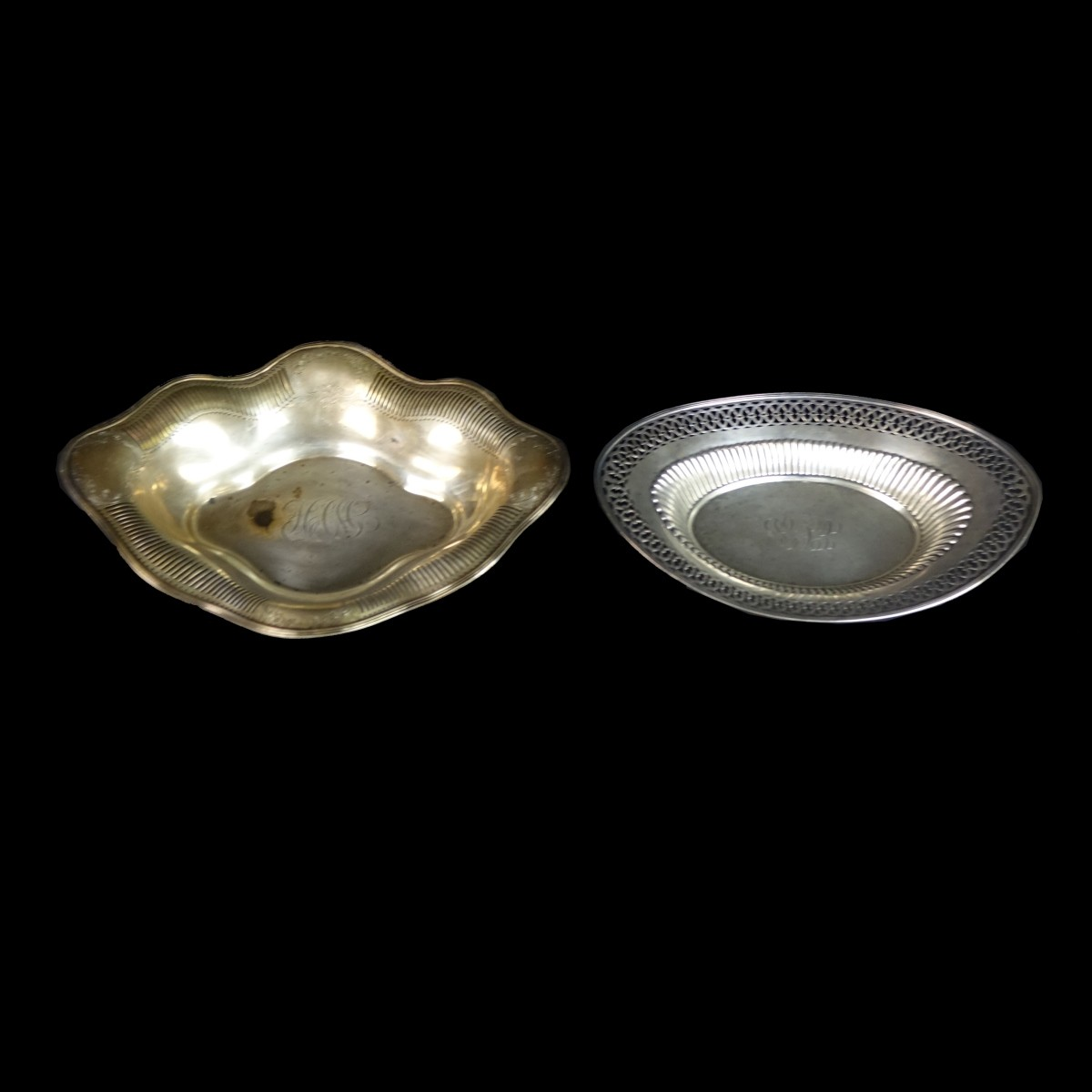 Two (2) Sterling Silver Dishes