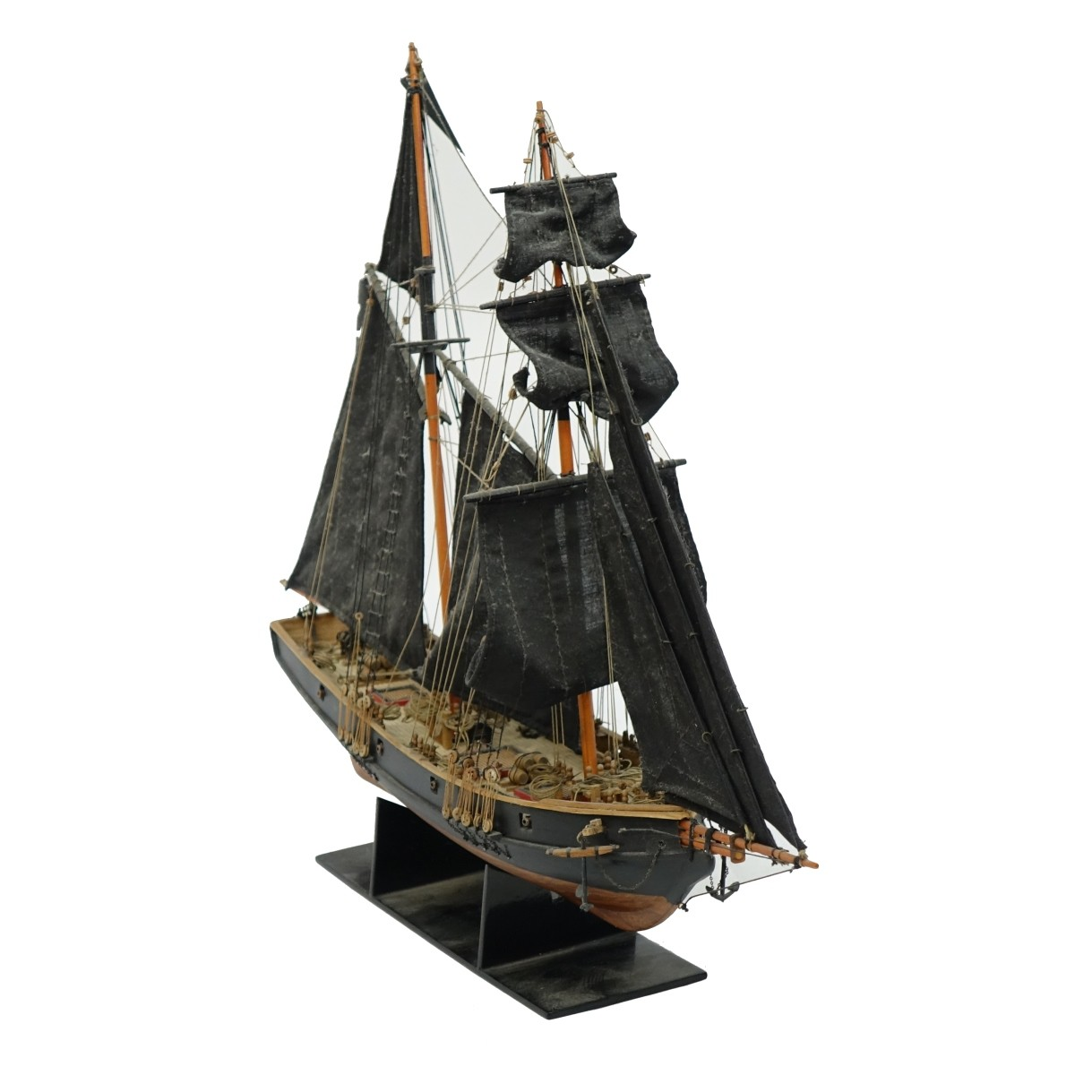Ben Franklin's Black Prince Model Sailing Ship