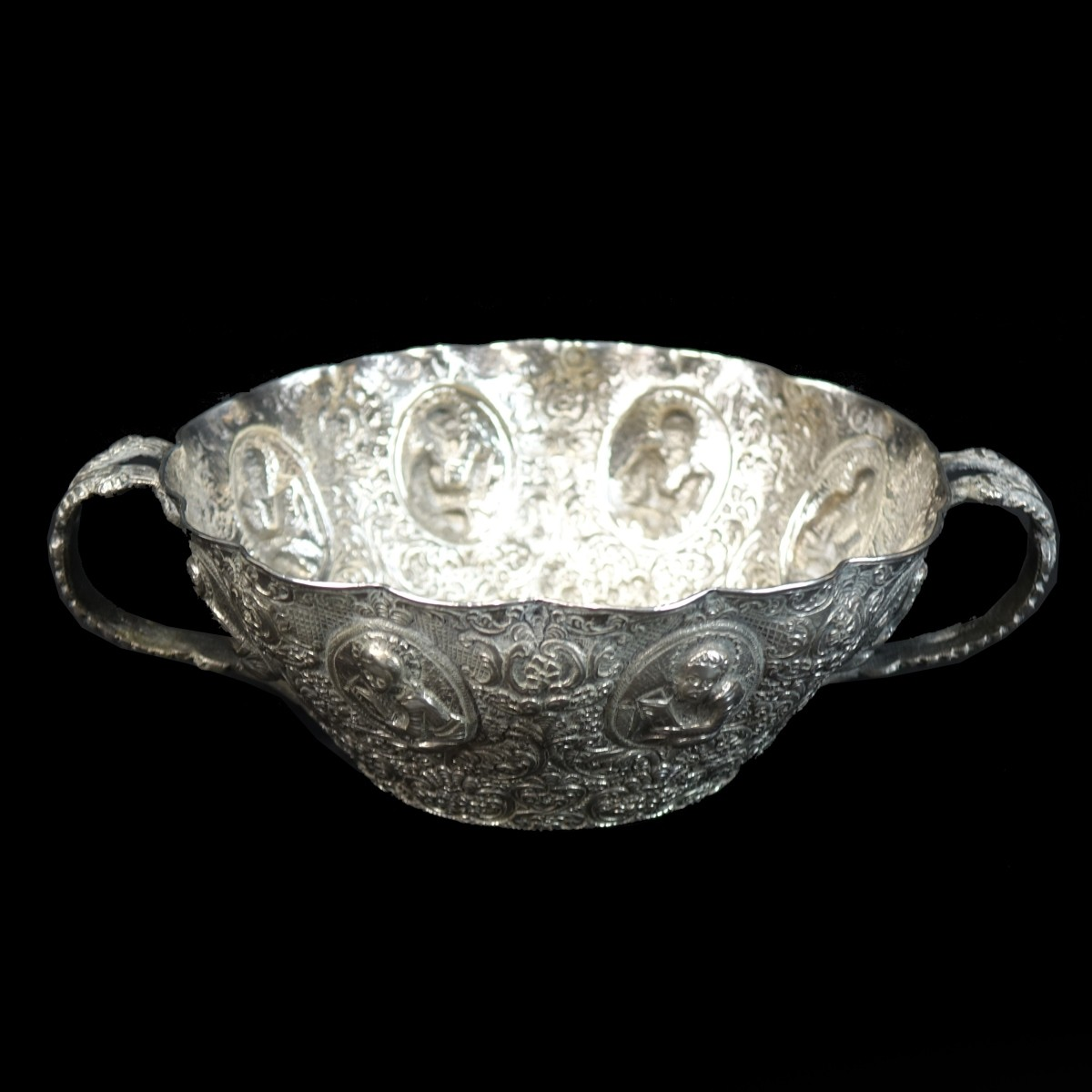 Antique Continental Silver Bowl