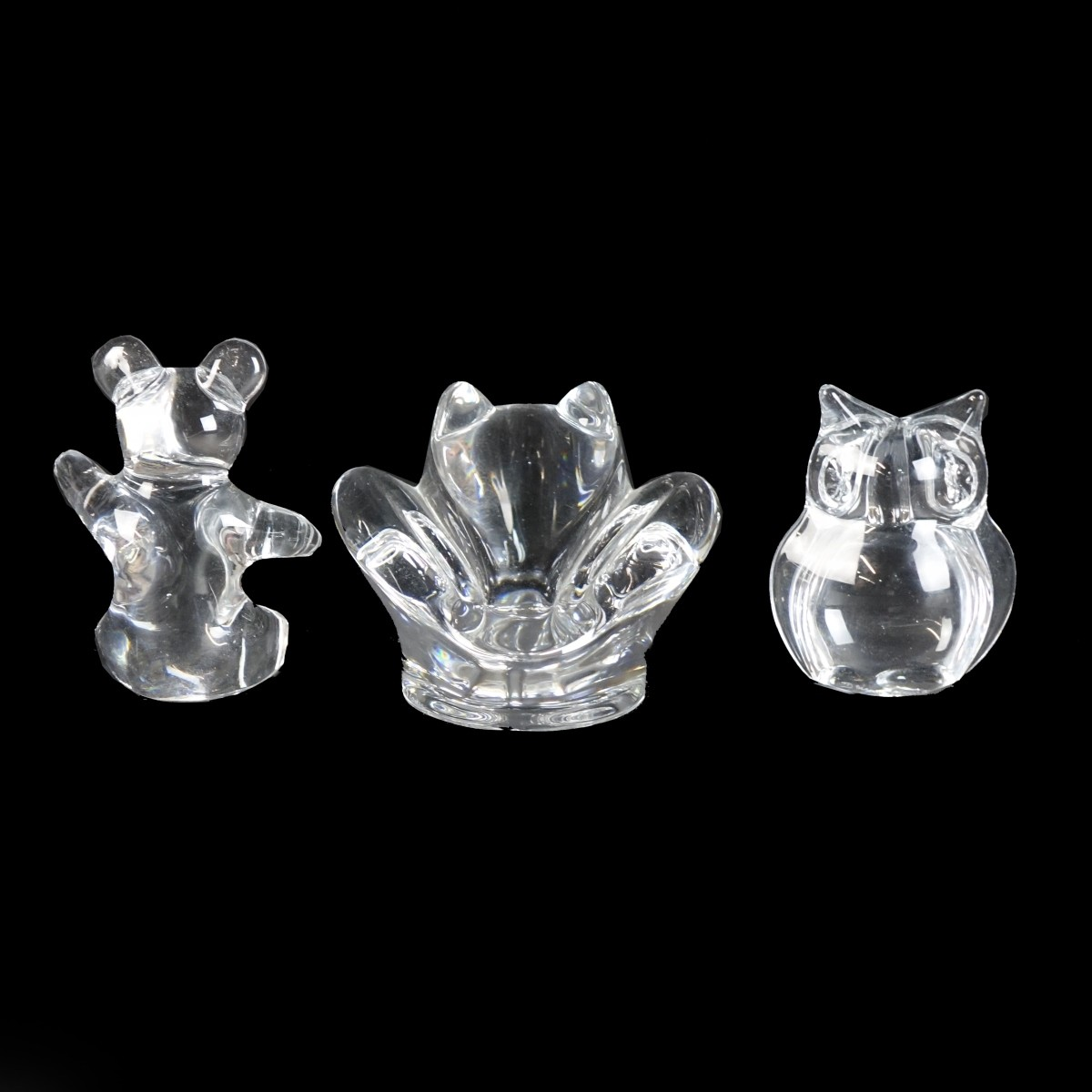 Daum Art Glass Figurines