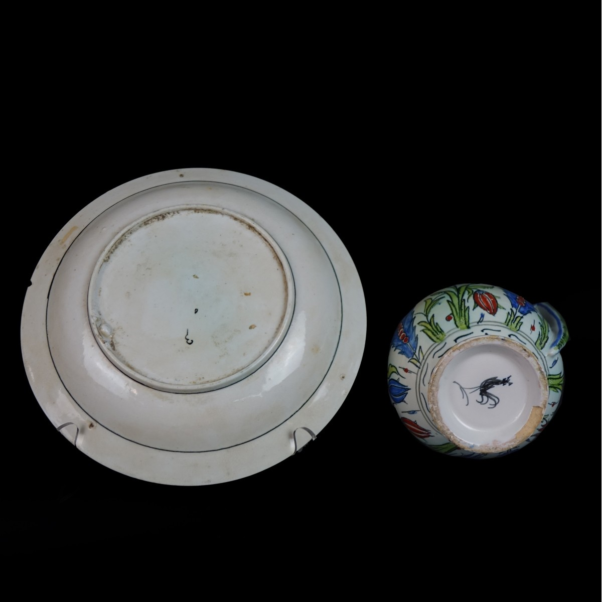 Two (2) Vintage Ottoman Empire Style Tableware