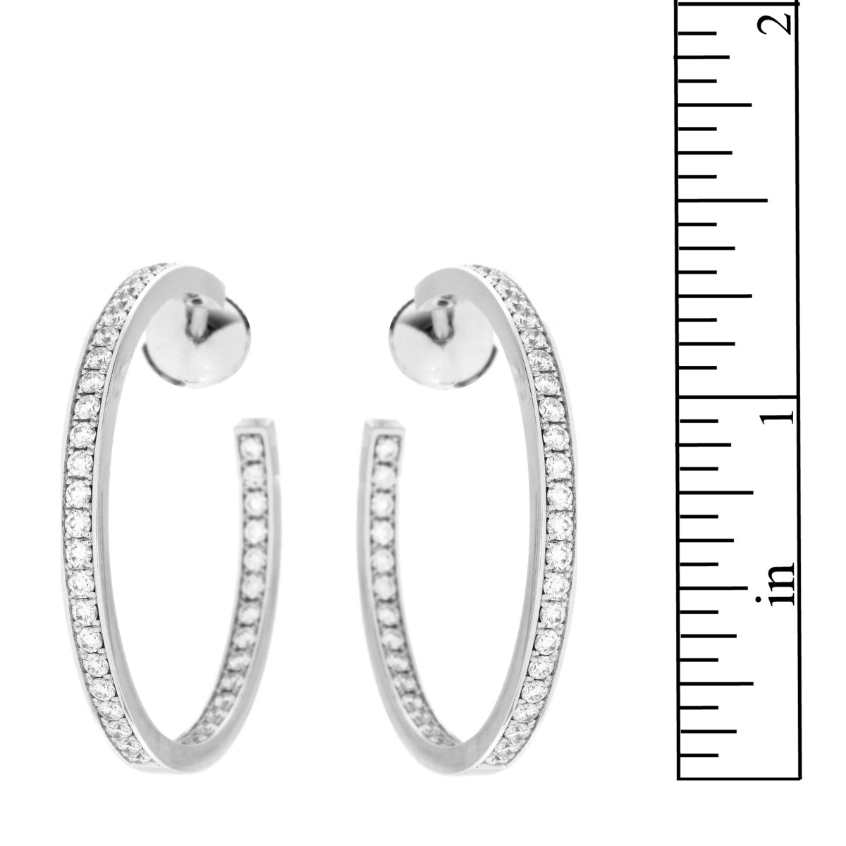 Cartier Diamond and 18K Earrings