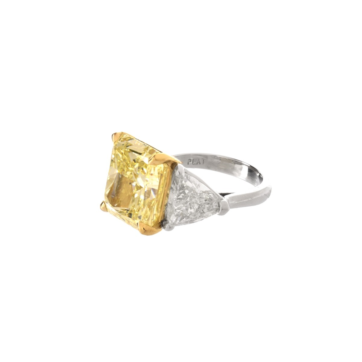 GIA 14.71ct Fancy Yellow Diamond Ring