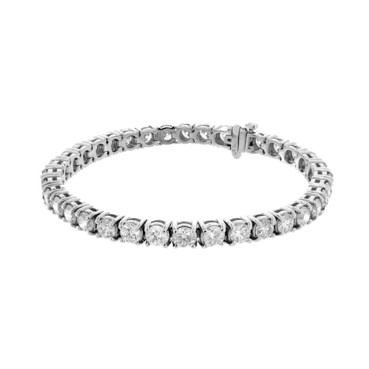 Diamond and Platinum Line Bracelet