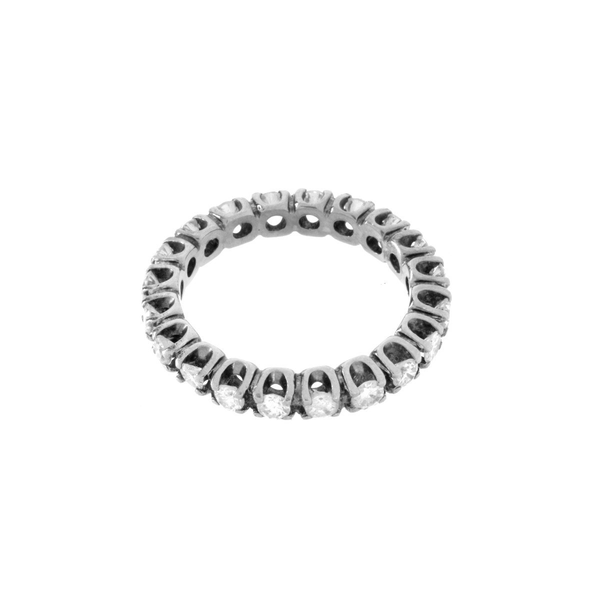 Diamond and 14K Eternity Band