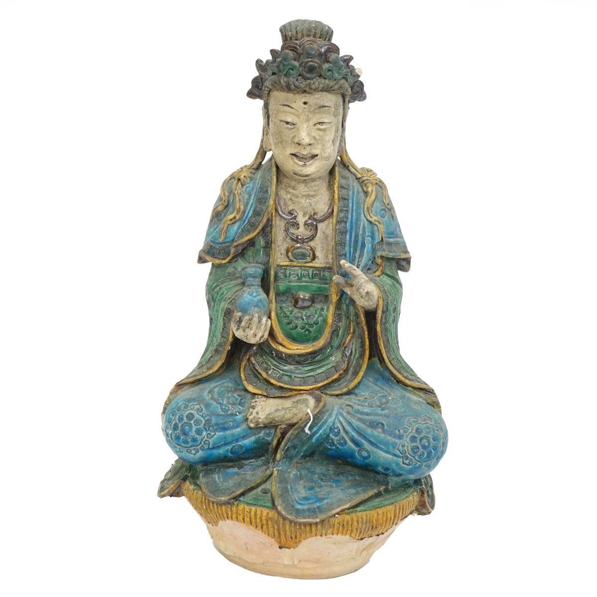 Antique Chinese Glazed Terracotta Buddha
