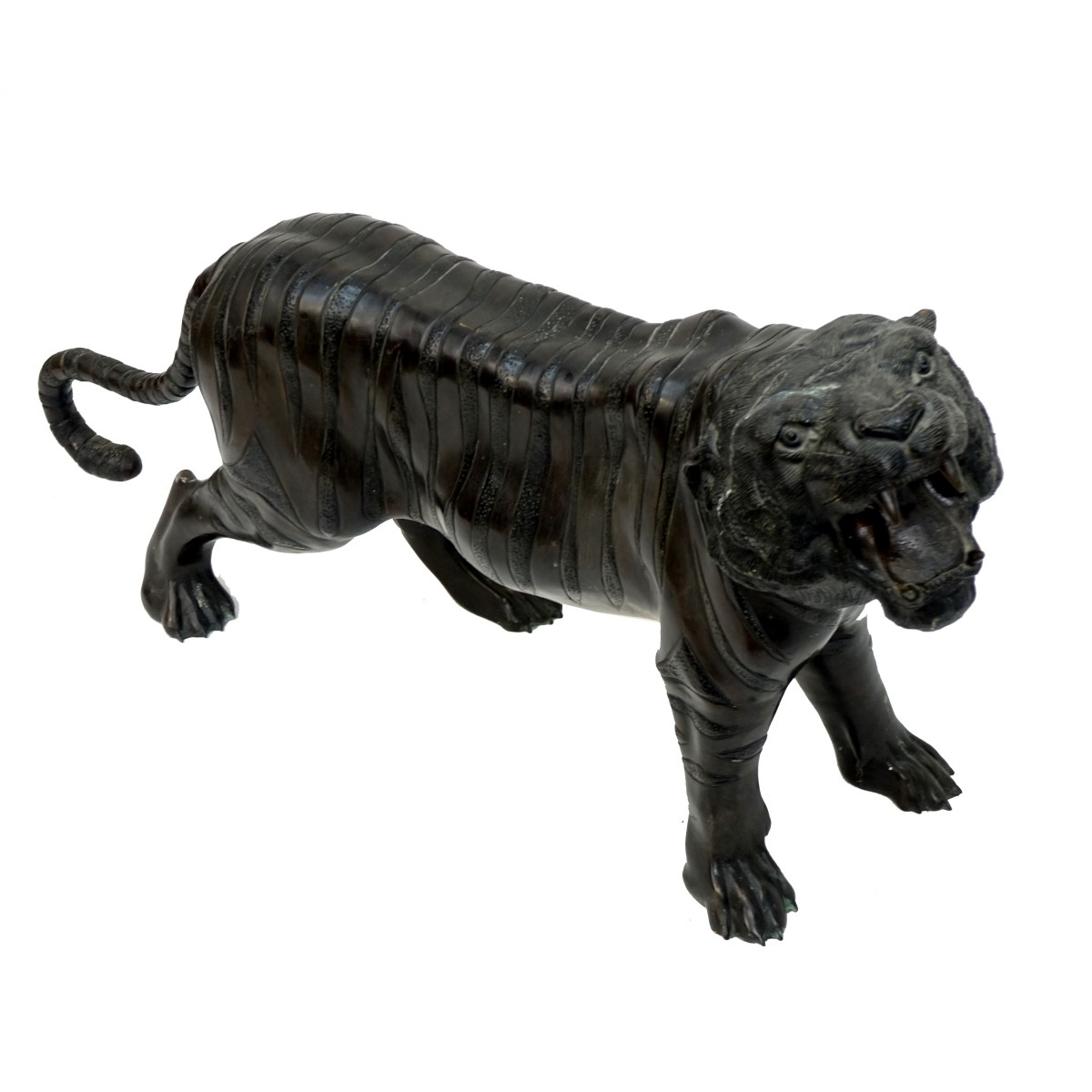 Life Size Japanese Bronze Tiger