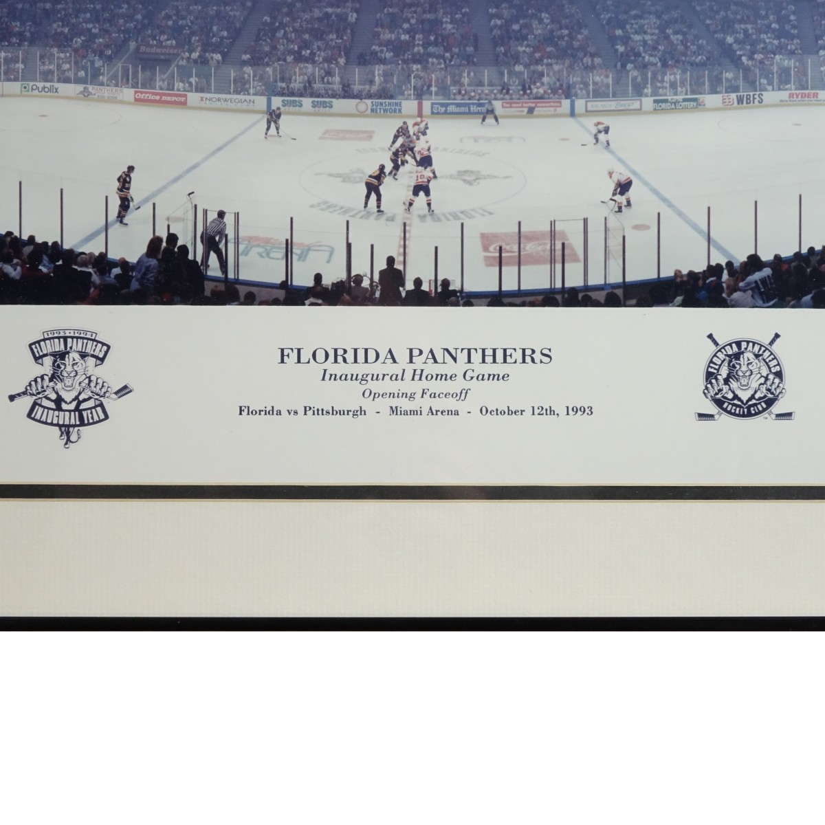"20th C. Offset Lithograph Print ""Florida Panthers"""