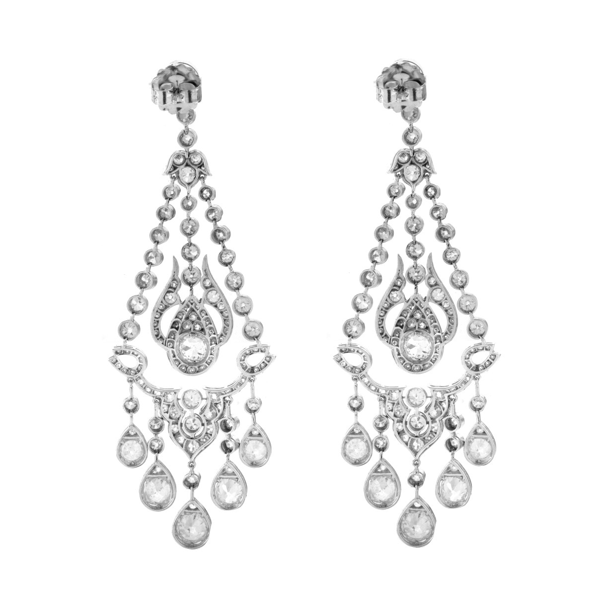 Diamond and Platinum Earrings
