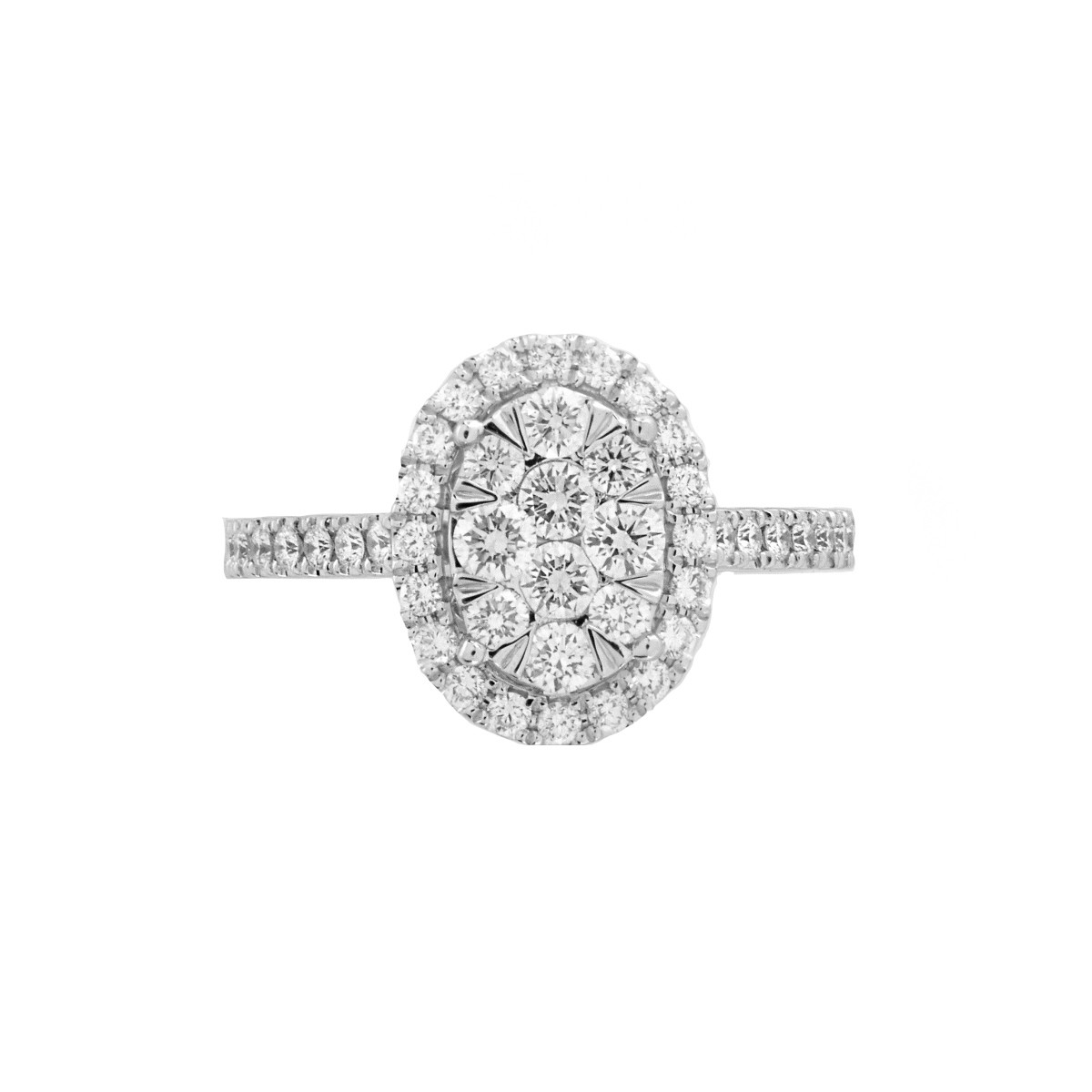 Diamond and 14K Engagement Ring