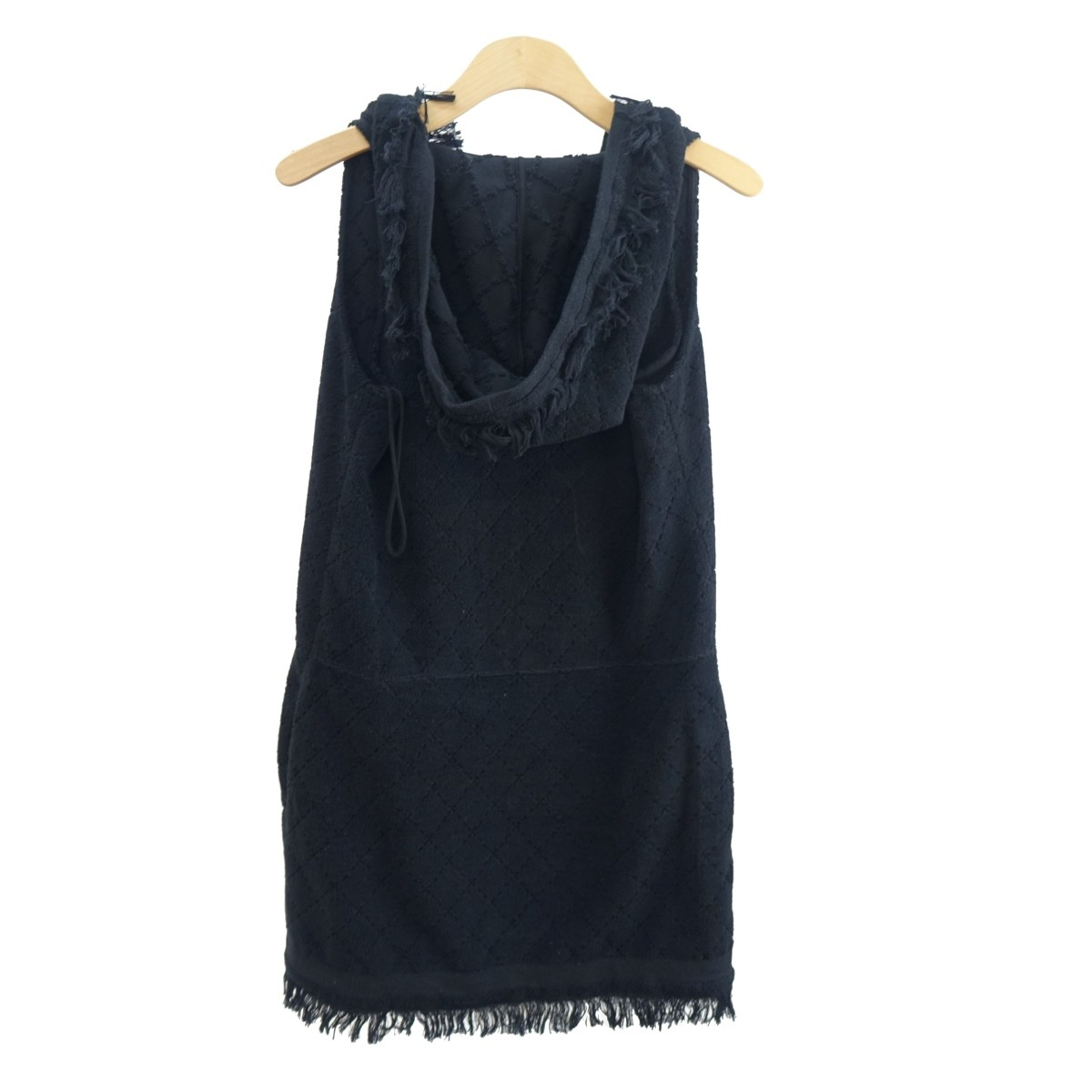 Chanel Black Terrycloth Dress