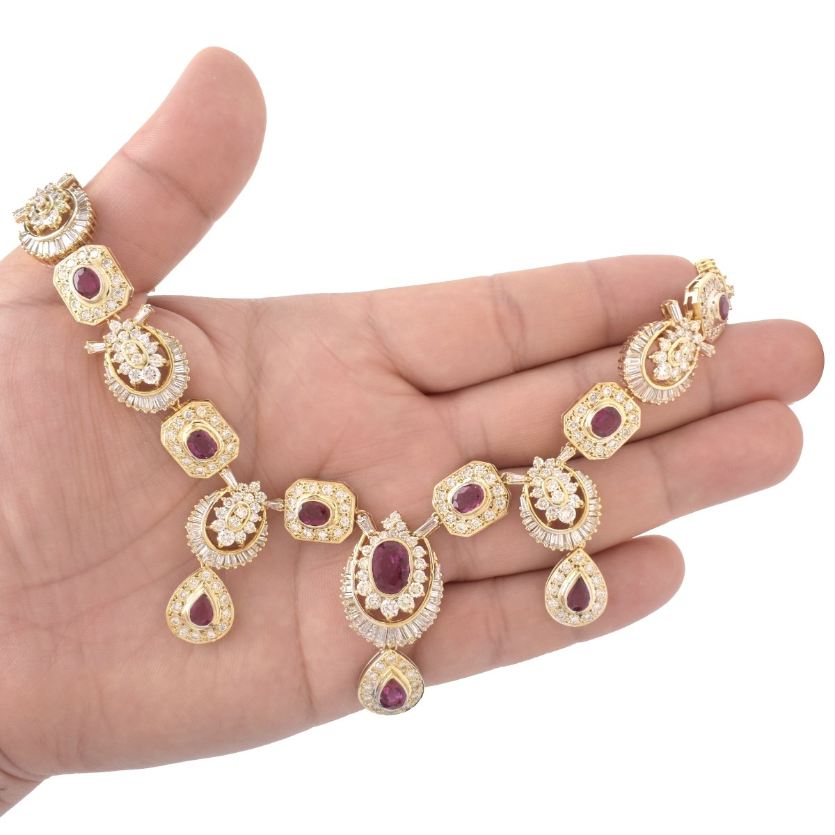 GAL Ruby, Diamond and 14K Necklace