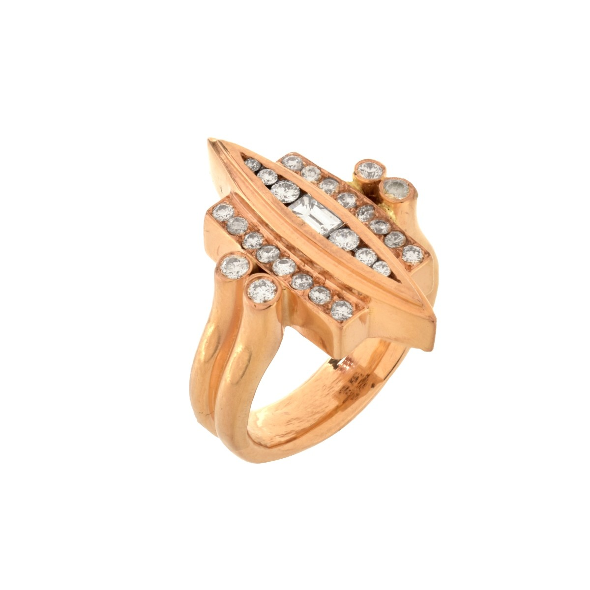 Diamond and 18K Ring