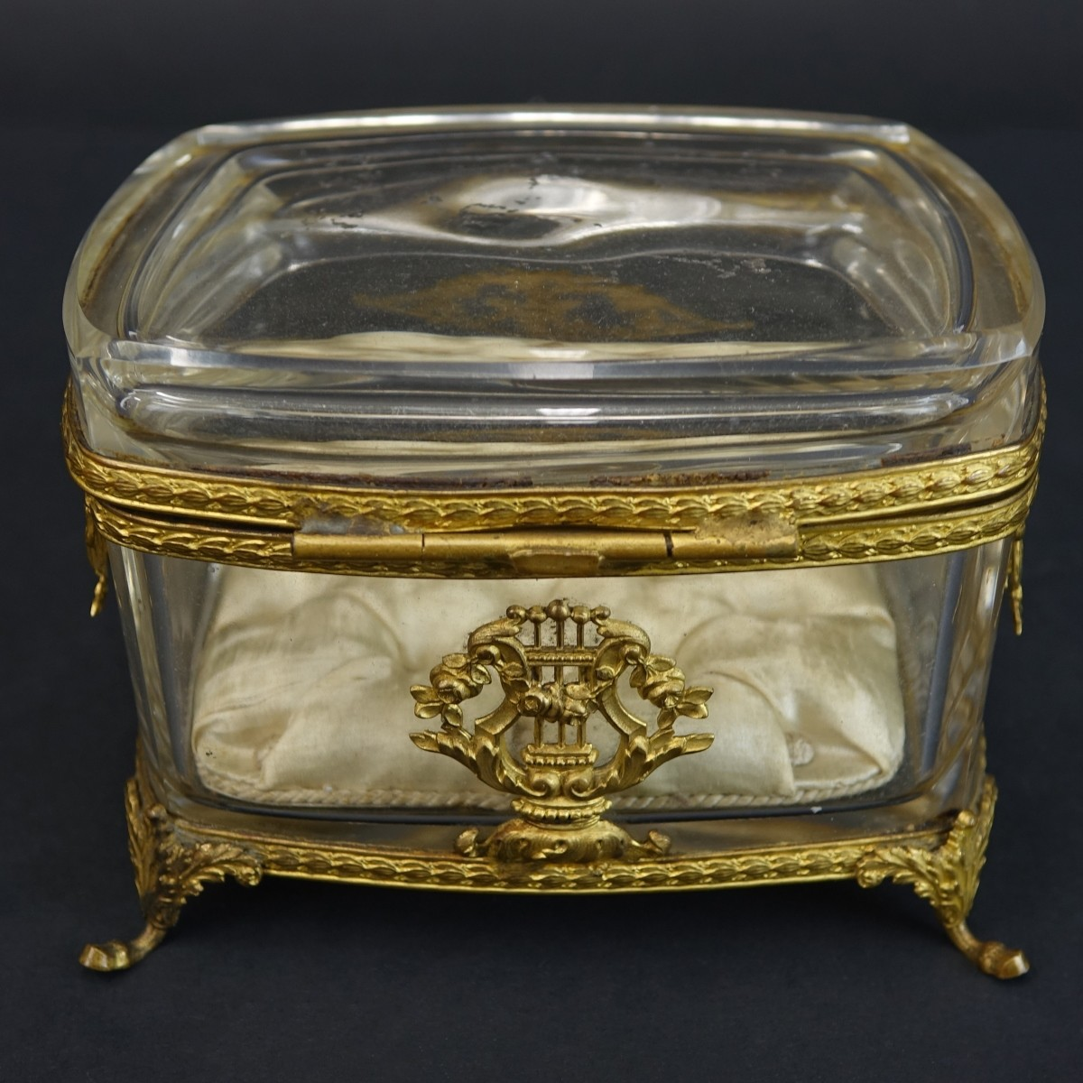 Antique Crystal Jewelry Casket