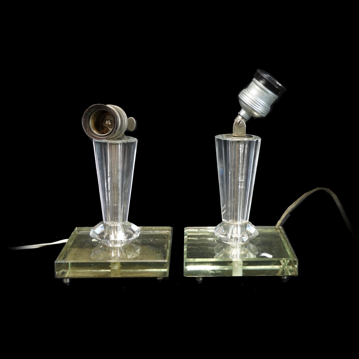 Pair of Glass Lamps