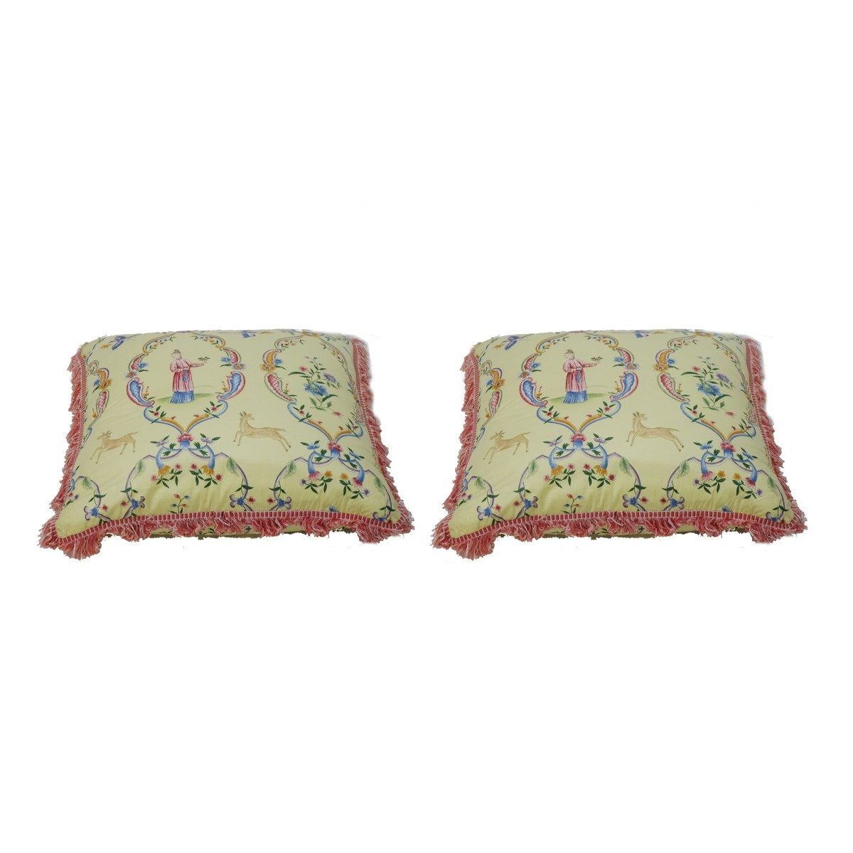 Chinoiserie Silk Decorative Pillows