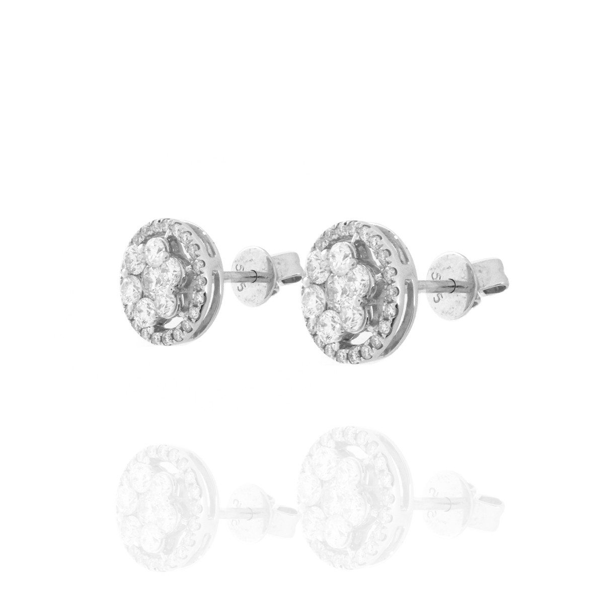 Diamond and 14K Ear Studs
