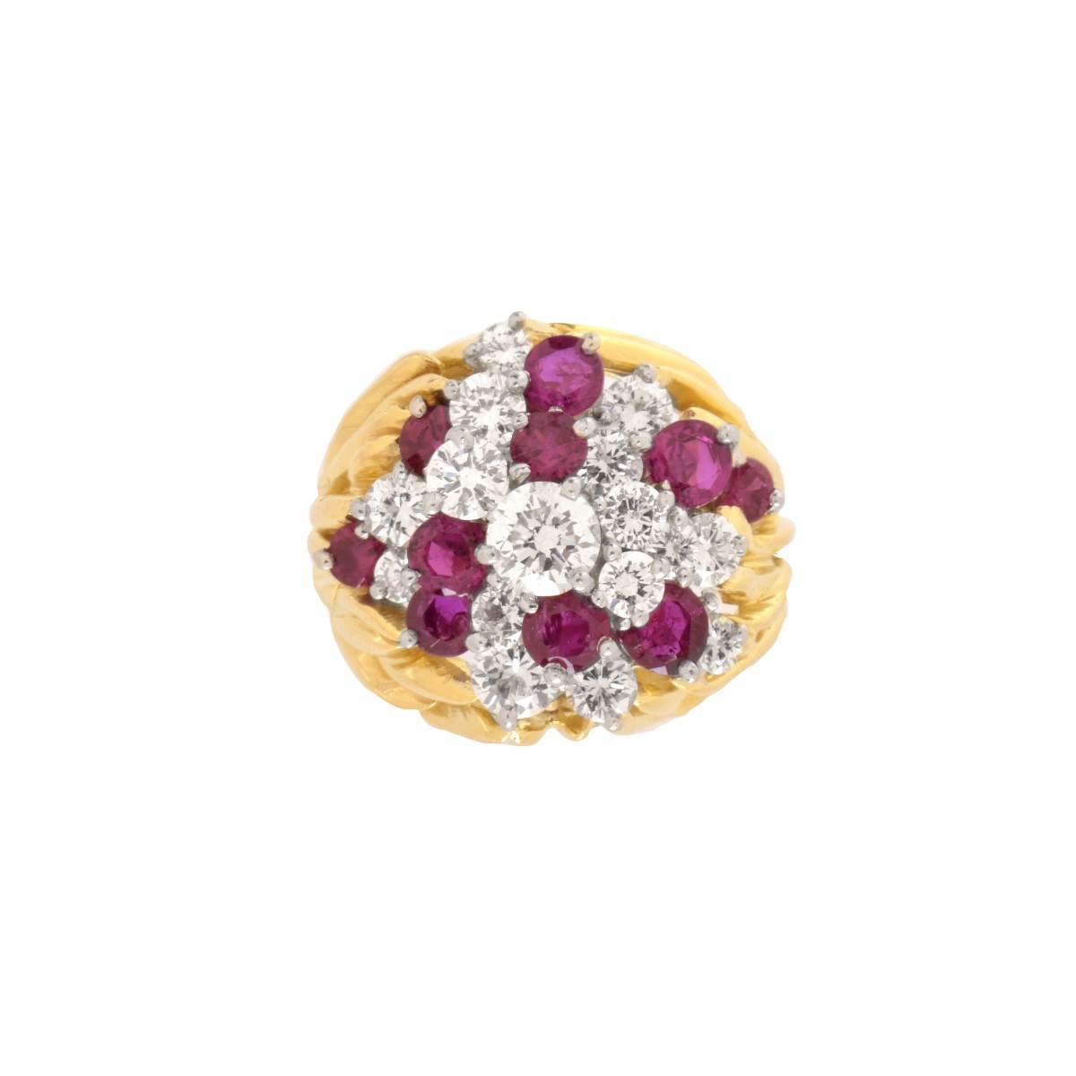 Diamond, Ruby and 18K Ring