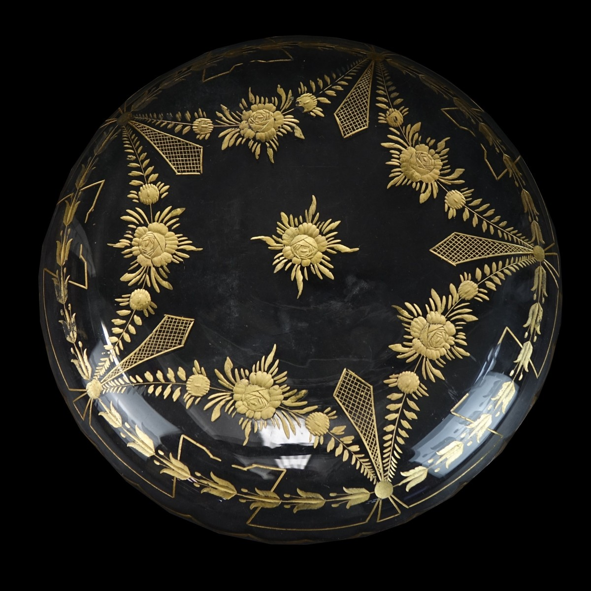 French Gilt Etched Tableware