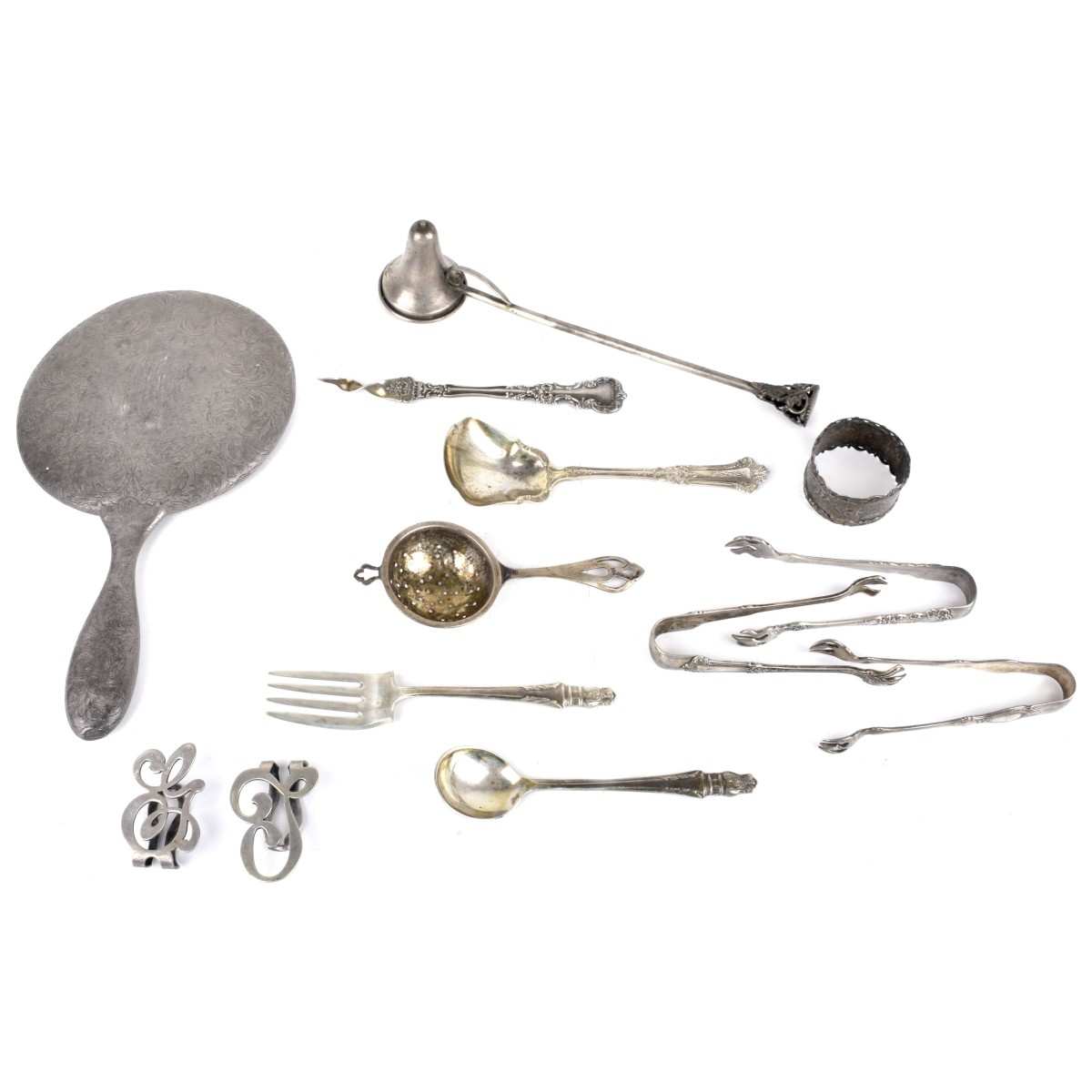 Assorted Sterling & 900 Silver Tableware