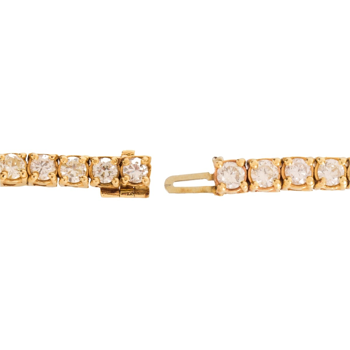 Diamond and 14K Bracelet