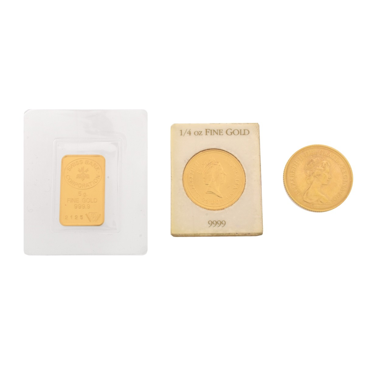 Two Gold Coins, One Ingot